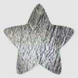 MOLTEN silver AQUA MELTED METAL DIGITAL ABSTRACT R Star Stickers