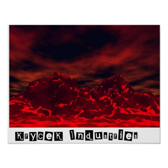 Molten Skies Poster