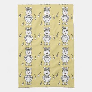 Molting Missy Chicken Dishtowels Tea Towel