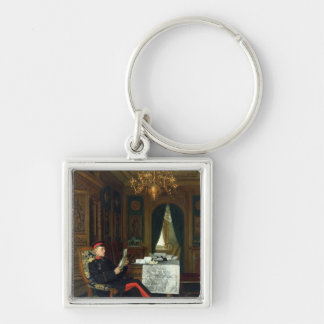 Moltke in Versailles, 1872 Silver-Colored Square Key Ring