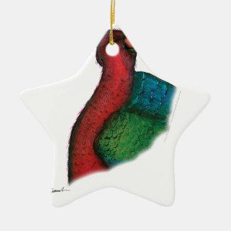 moluccan king parrot, tony fernandes christmas ornament