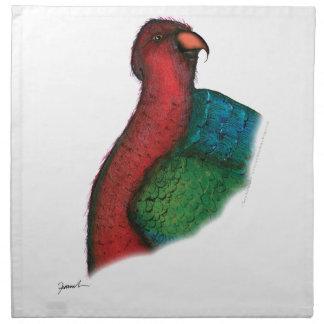 moluccan king parrot, tony fernandes napkin