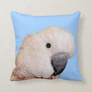 Moluccan parrot close up throw pillow
