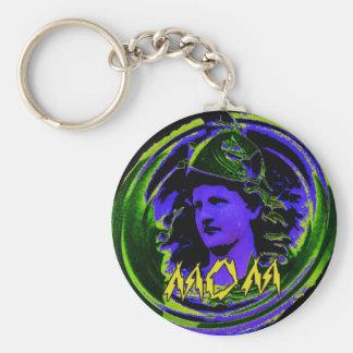Mom 1 basic round button key ring