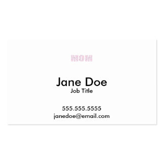 """""""MOM"""" Abstract Geometric Multicolor Triangle Text Pack Of Standard Business Cards"""