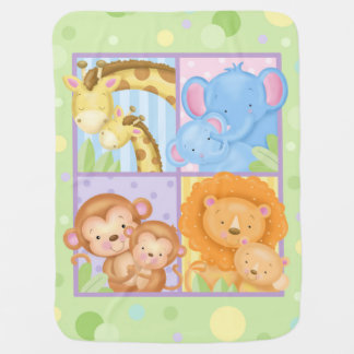 Mom and Baby Animals Blanket Baby Blankets