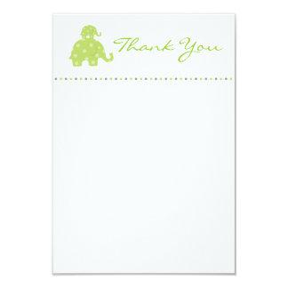 Mom and Baby Elephant Baby Flat Thank You Card 9 Cm X 13 Cm Invitation Card