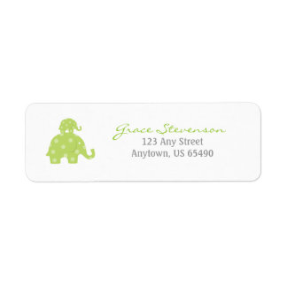 Mom and Baby Elephant Baby Labels