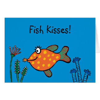 Mom and Baby Fish Kisses Card