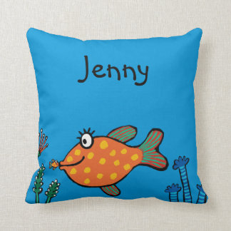 Mom and Baby Fish Kisses Cushion