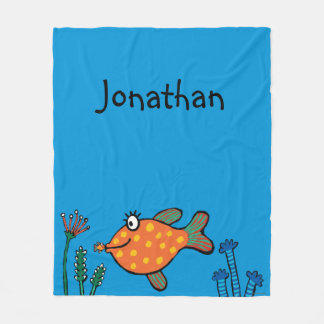Mom and Baby Fish Kisses Fleece Blanket
