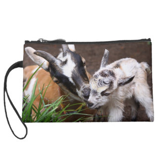 Mom and Baby Goat Wristlet Clutch