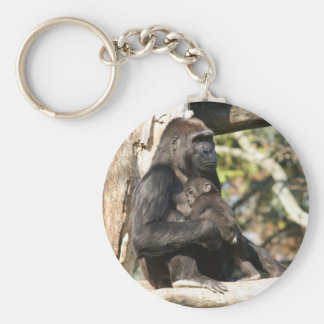 Mom and baby gorilla 4 key ring