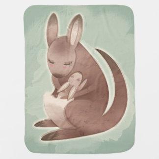 Mom and Baby Kangaroo Baby Blanket