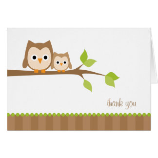 Mom and Baby Owl Note Cards