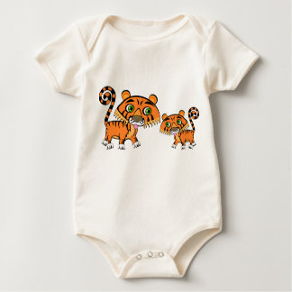 Mom and Baby Tiger Baby Bodysuit