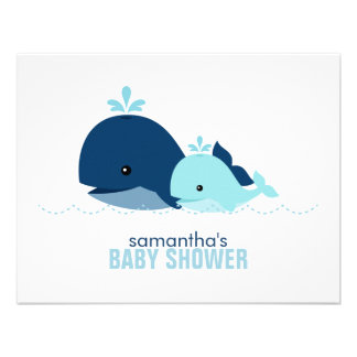 Mom and Baby Whale Mom Advice Cards blue