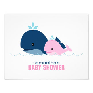 Mom and Baby Whale Mom Advice Cards pink