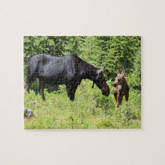 Mom and Calf Moose Puzzle