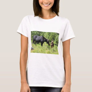Mom and Calf Moose T-Shirt