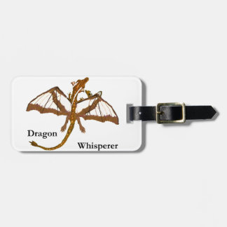 Mom and Child Dragons Luggage Tag