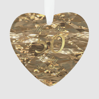 Mom and Dad Golden Wedding Anniversary 50th Ornament
