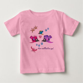 Mom and Dad love you cute Fish Tee
