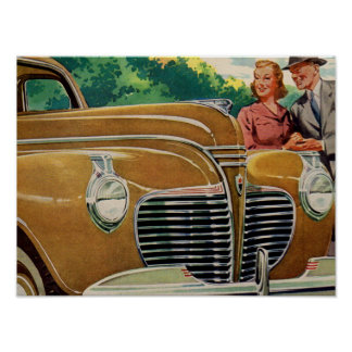 Mom and Dad's MAMMOTH golden 1941 Plymouth Poster