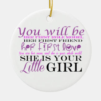 Mom and Daughter: Love Christmas Ornament