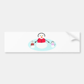Mom and her snow babies bumper sticker
