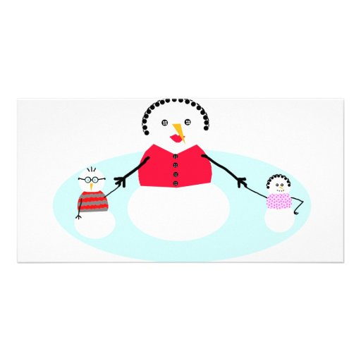 Mom and her snow babies photo cards