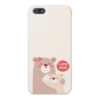 Mom and kid bears - I love Mom iPhone 5 Case