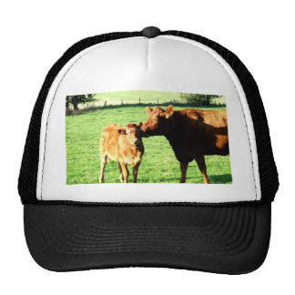 Mom and love cow calv trucker hat