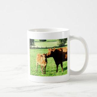 Mom and love cow calv coffee mugs
