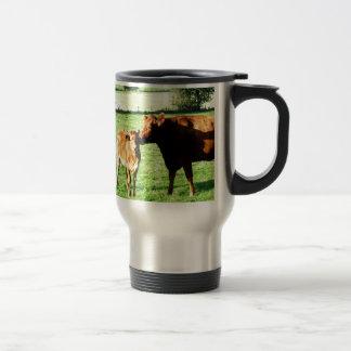 Mom and love cow calv mug
