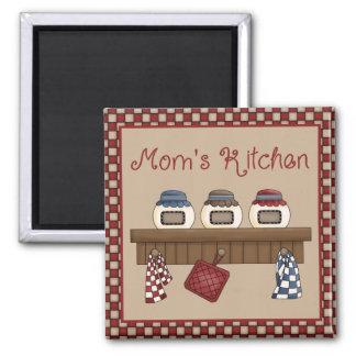 mom's kitchen square magnet