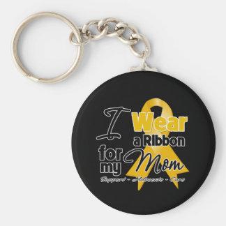 Mom - Appendix Cancer Ribbon Basic Round Button Key Ring