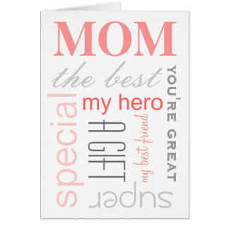 MOM attributes Greetings Card