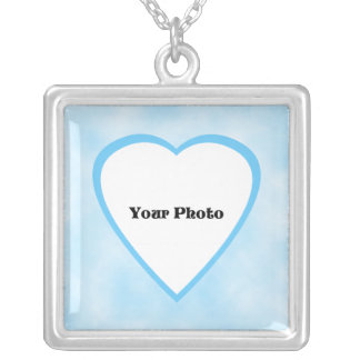 Mom Baby Photo Necklace -- Baby Boy