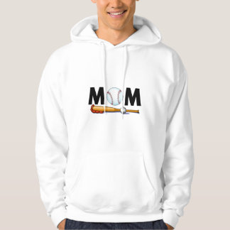 Mom Baseball Bat and Ball Hoodie