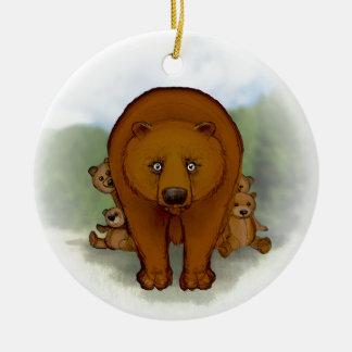 Mom bear christmas ornament