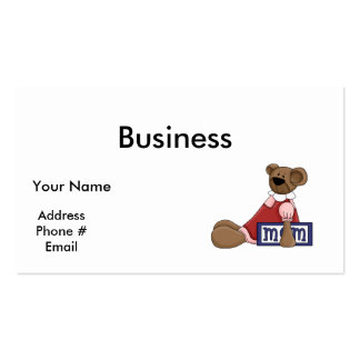 mom_bear pack of standard business cards