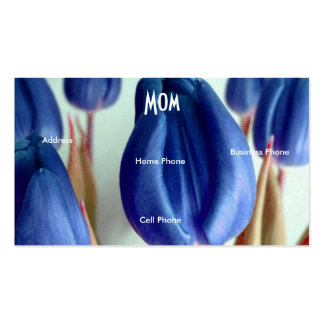 Mom Blue Tulips Double-Sided Standard Business Cards (Pack Of 100)