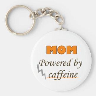 Mom by caffeine basic round button key ring