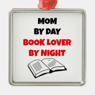 Mom by Day Book Lover by Night Christmas Ornament