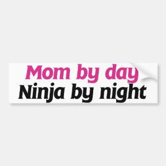 Mom by Day Ninja by Night Bumper Sticker