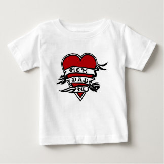 Mom, Dad, And Me, Heart Baby T-Shirt