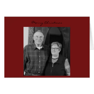 Mom Dad Christmas Card