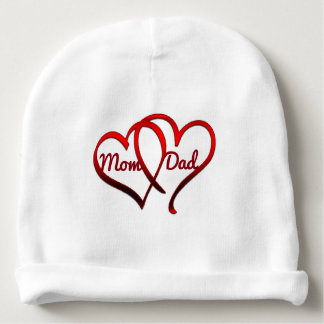 Mom, Dad, Custom Baby Cotton Beanie Baby Beanie