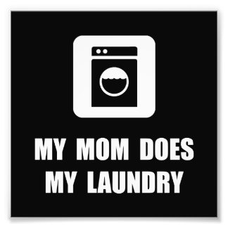 Mom Does Laundry Photographic Print